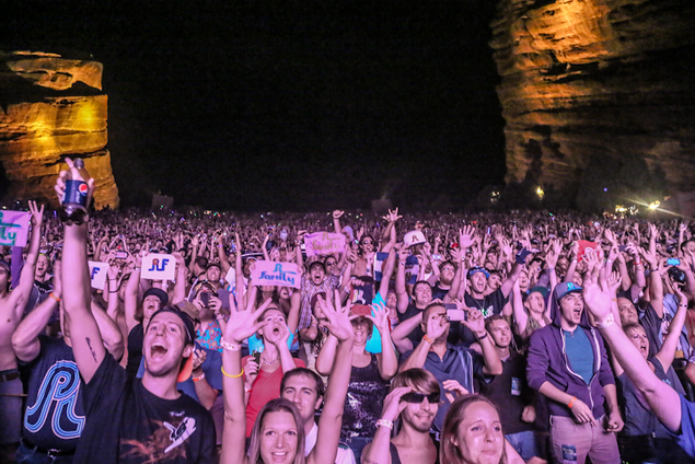 Members of the PLF congregate for an event at Red Rocks Ampitheatre, 2012. (Source: Collegian.com)
